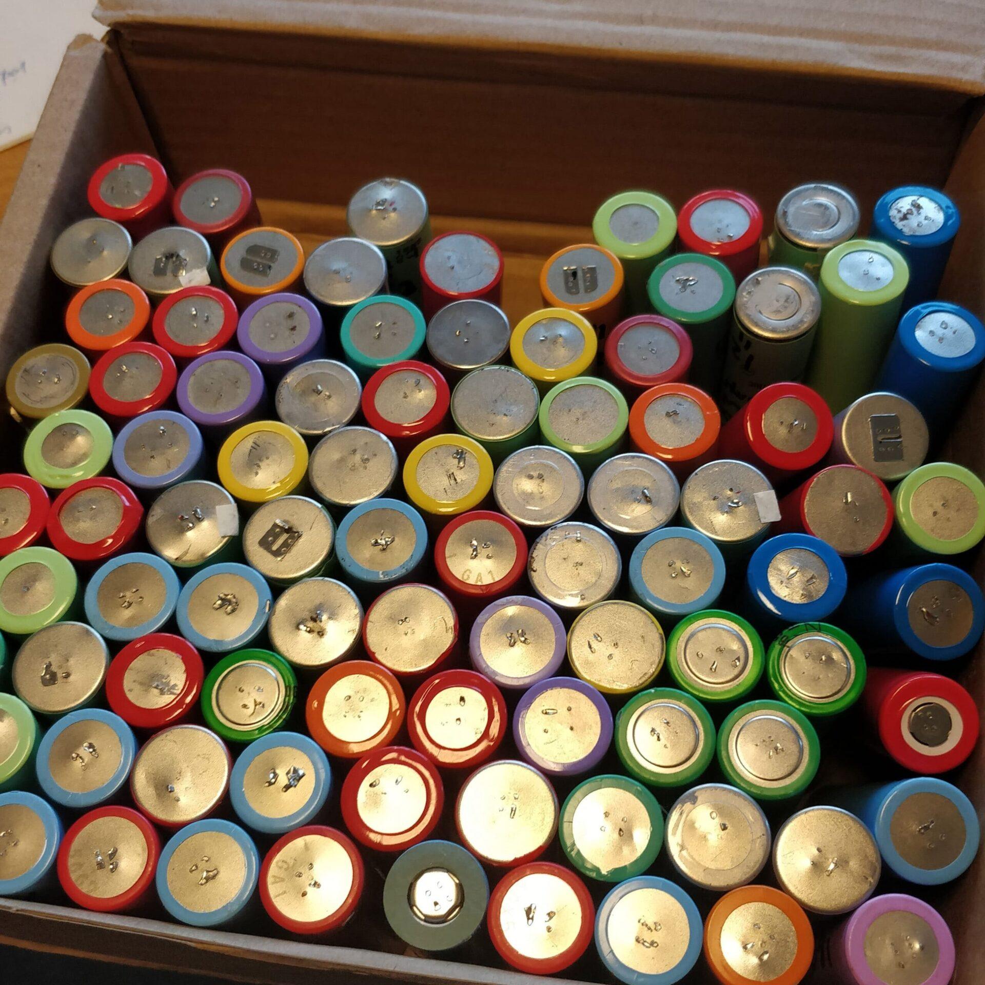 brugte 18650 Lithium batteri